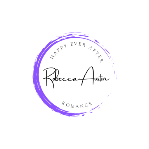 Robecca Austin Logo. Purple Circle with the words Happy Ever After Romance.